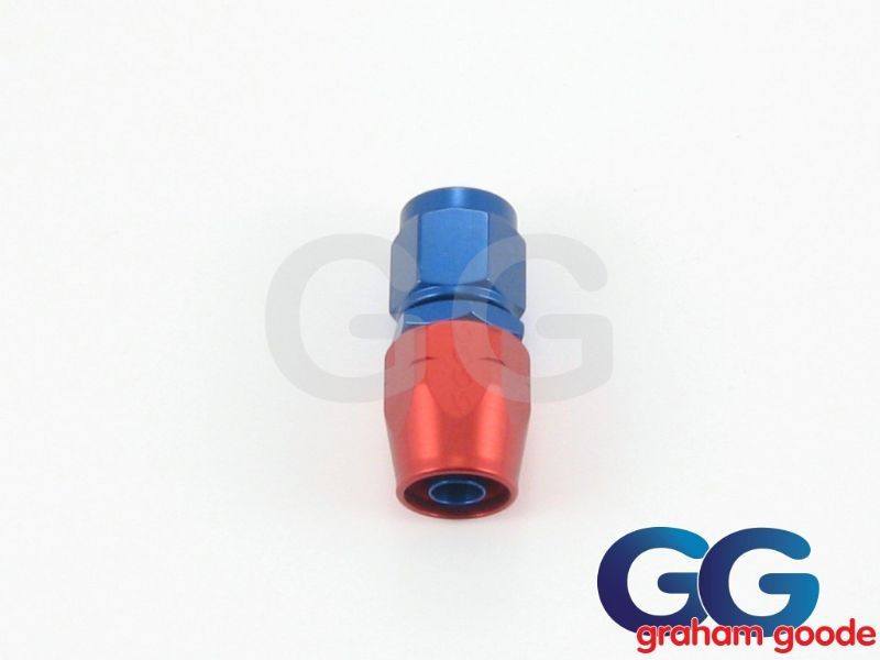 Goodridge 200 Series Dash 12JIC 200.12 Fuel Hose Fitting Straight Blue/Red Anodised 236-0112